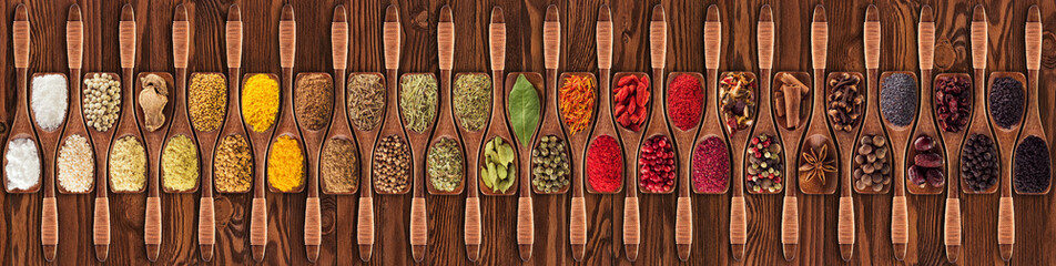 Spices and herbs from diffe...