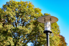 Old Street Lamp In The Park