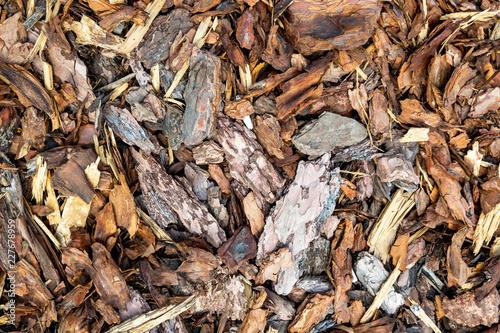 Fotografie, Obraz  Wood chips or sawdust texture background, background pattern