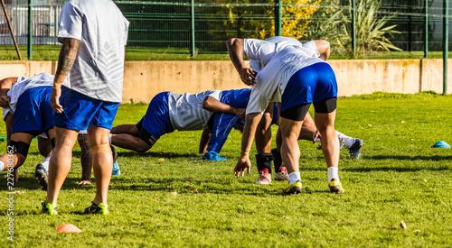 atelier mêlée au rugby Canvas Print