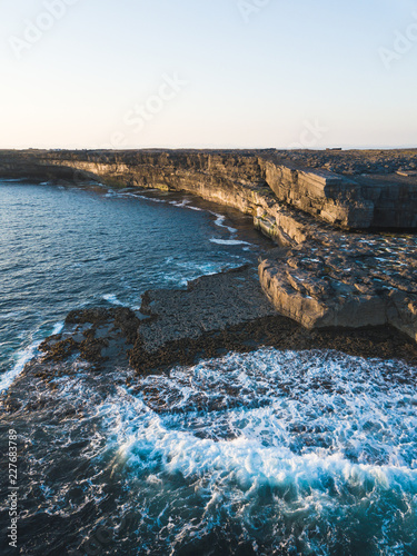 Photo Aerial view of Inishmore on the Aran Islands at the sunset