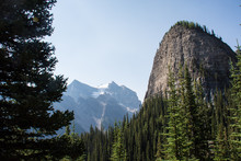 Big Beehive, A Famous Rock Formation In The Canadian Rockies, On The Lake Agnes Teahouse Trail At Lake Louise In Banff National Park