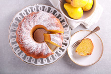 Saffron Bundt Cake With Pears