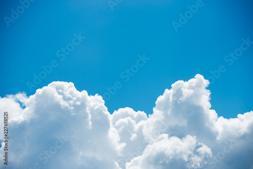 Canvas Prints Heaven Beautiful pure white clouds on bright blue sky