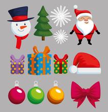 Christmas Decoration Set Icons