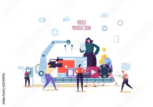Obraz na plátně  Making Movie, Video Production Concept