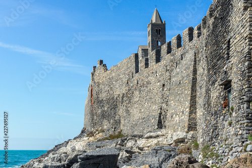 Keuken foto achterwand Historisch geb. Walls of Portovenere, Italy