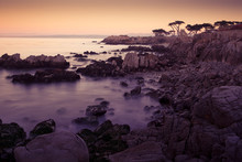 Sunset At Lovers Point In Pacific Grove