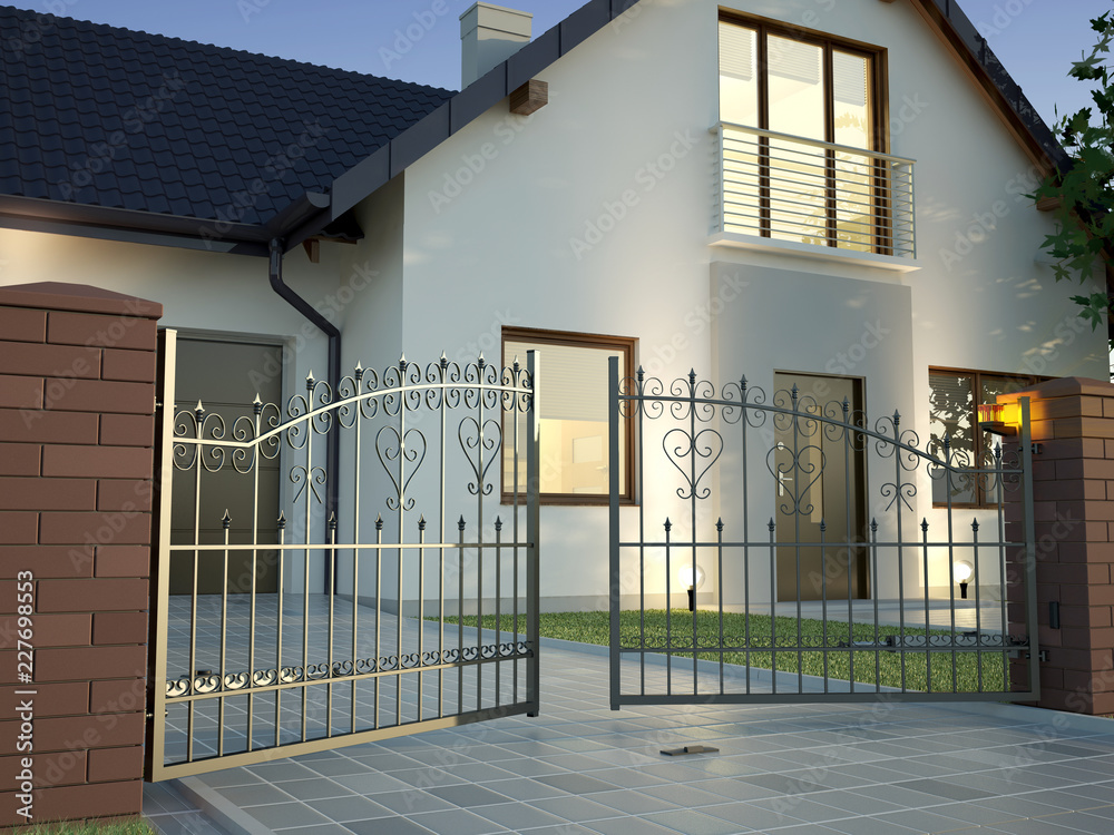 Fototapeta Classic Iron Gate - House 6