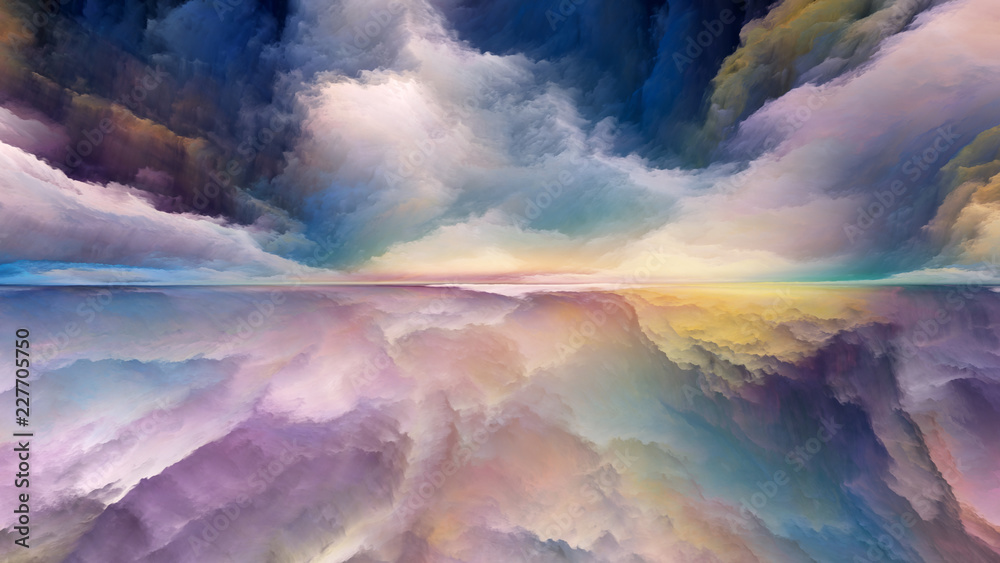 Fototapeta Elements of Abstract Landscape