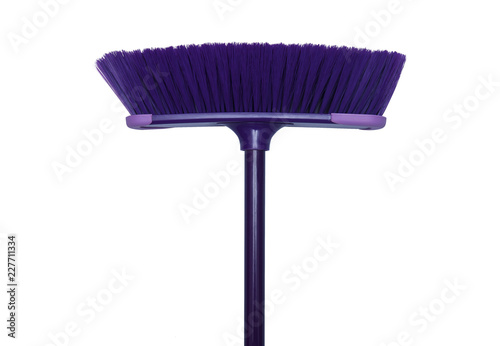 Cleaning broom isolated on the white background Wallpaper Mural