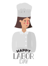 Woman Cook Celebrating The Labor Day Avatar Character