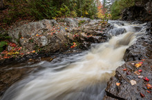 Fall Autumn Waterfall In Acadia National Park