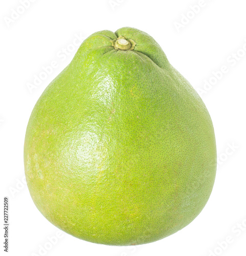 Foto  The Ruby of Siam pomelo fruit isolated on white background, include clipping pat