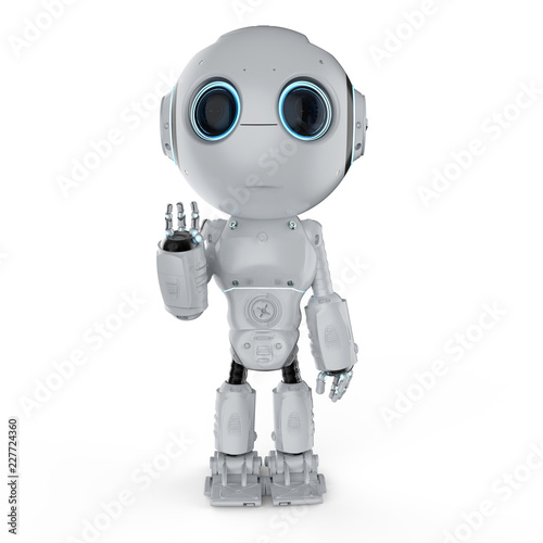 Photo mini robot hand up