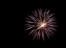 Fireworks , Sparklers ,bursting Against A Black Background
