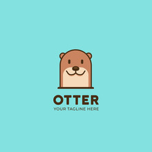 Simple Cute Animal Beaver Or O...