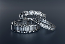 Three Eternity Wedding Rings O...