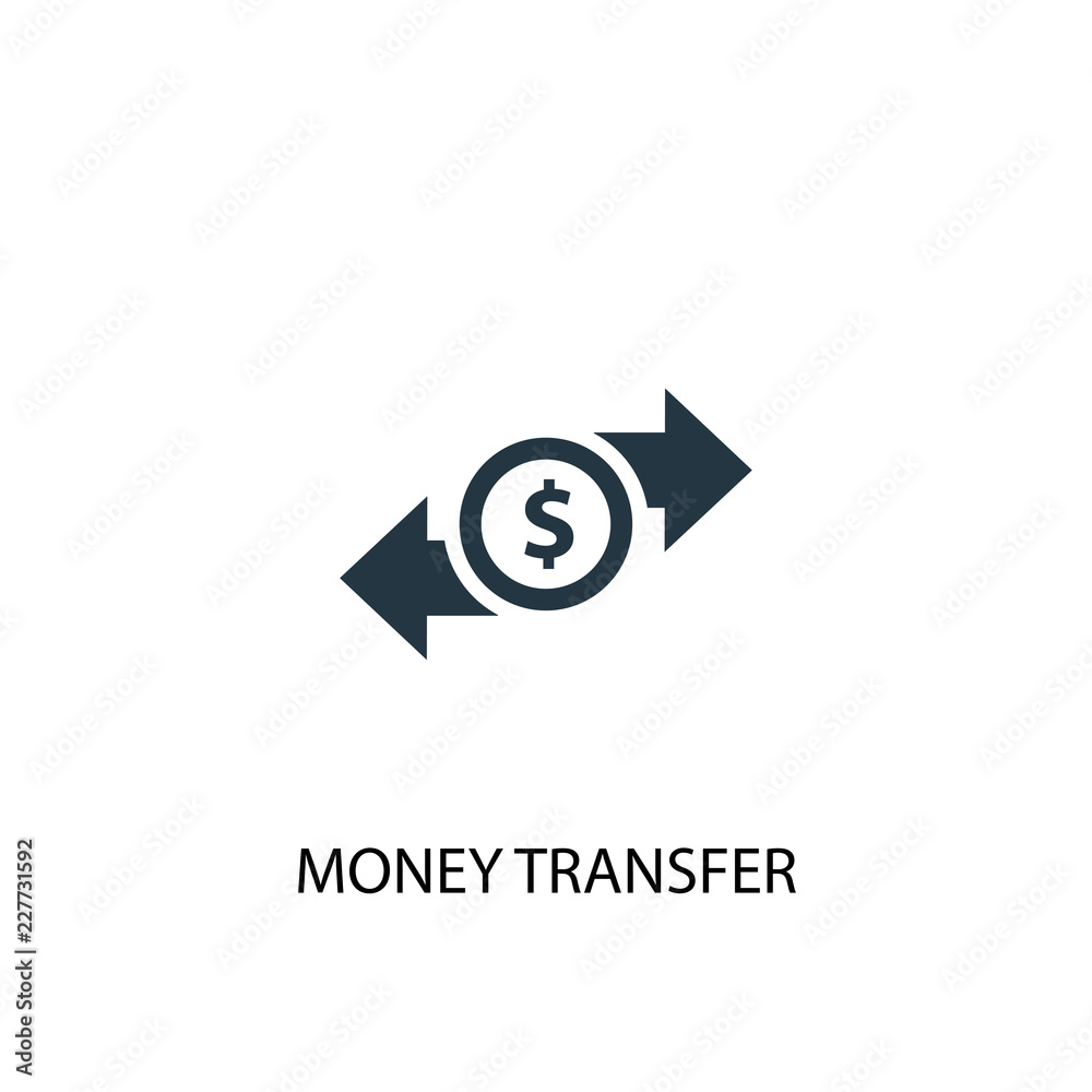 Fototapeta money transfer icon. Simple element illustration. money transfer concept symbol design. Can be used for web and mobile.
