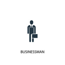 Businessman Icon. Simple Element Illustration. Businessman Concept Symbol Design. Can Be Used For Web And Mobile.