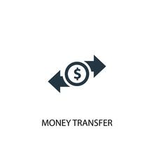 Money Transfer Icon. Simple El...