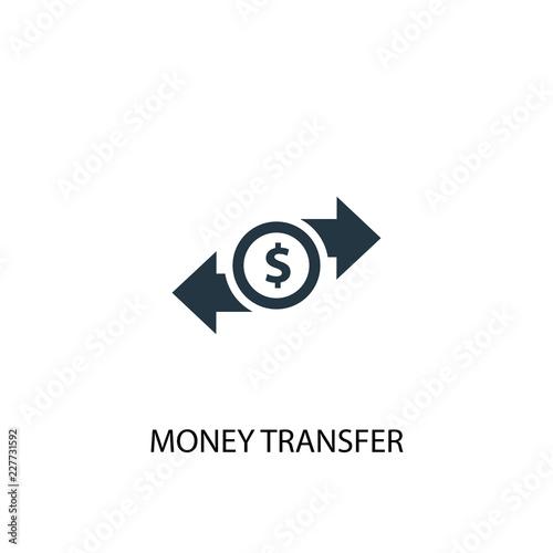 Stampa su Tela money transfer icon