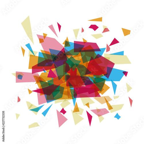 Foto op Plexiglas Geometrische dieren Isolated polygonal figure design