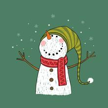 Hand Drawn Christmas Greeting ...