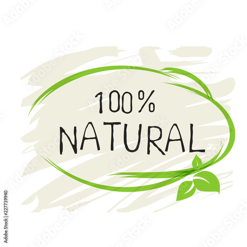 Natural product 100 bio healthy organic label and high quality product badges. Eco, 100 bio and natural food product icon. Emblems for cafe, packaging etc. Vector - fototapety na wymiar
