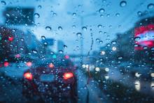 Heavy Raining Strom When Drive...