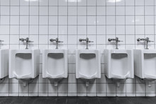Clean Male Toilet Row Of Urina...