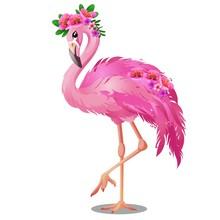 Beautiful Bird Pink Flamingo W...