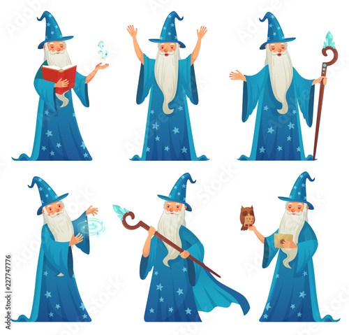 Photo Cartoon wizard character