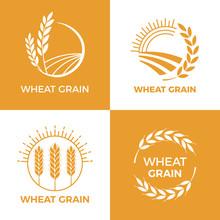 Baked Wheat Logo. Field Wheats...