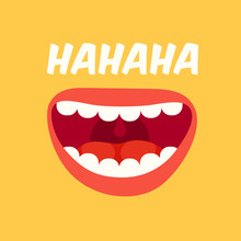 Laughing Mouth. April Fools Da...