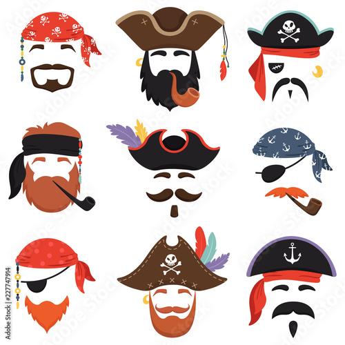 Vászonkép  Carnival pirate mask