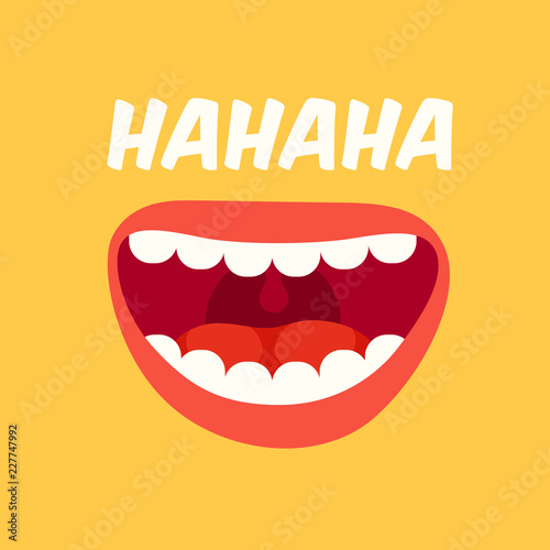 Laughing mouth Canvas