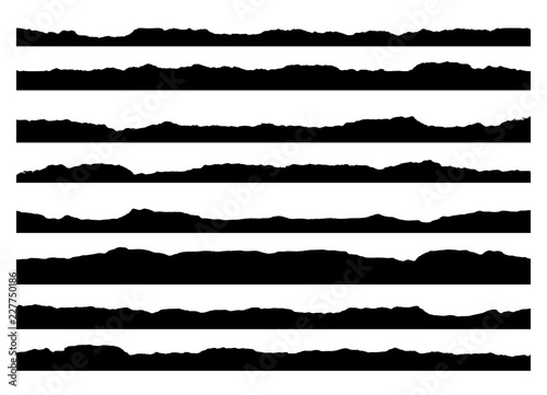 Set of grunge brush strokes Fototapeta