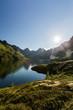 Mountain Lake and Sunlight - Agvatnet, Lofoten Islands, Norway