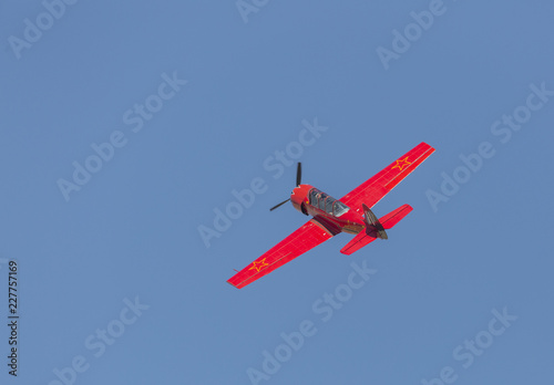 Acrobatic exhibicion in flight