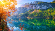 Autumn Scenery With Dachstein ...