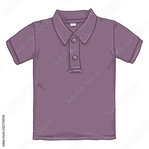 145faa8f0 Vector Single Cartoon Illustration - Purple Polo Shirt - Buy this ...
