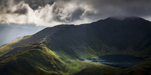Cadair Idris In Snowdonia National Park, Wales, Uk, Just Before A Storm Front Came Rolling In