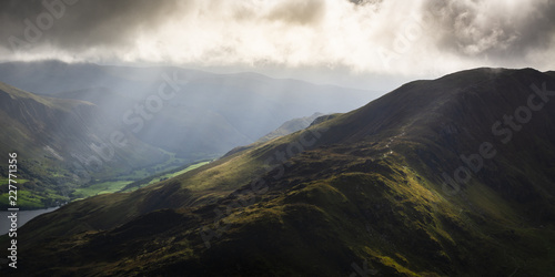 Foto auf Leinwand Grau Cadair Idris in Snowdonia National Park, Wales, Uk, just before a storm front came rolling in