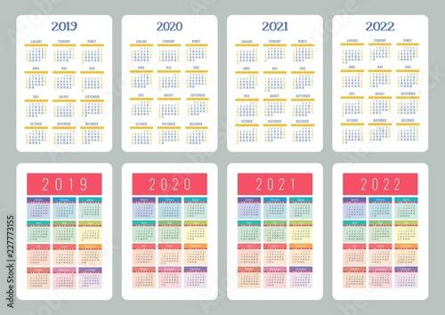 Fotografia  Calendar 2019, 2020, 2021, 2022 years