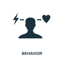Behavior Icon. Monochrome Style Design From Business Ethics Icon Collection. UI And UX. Pixel Perfect Behavior Icon. For Web Design, Apps, Software, Print Usage.