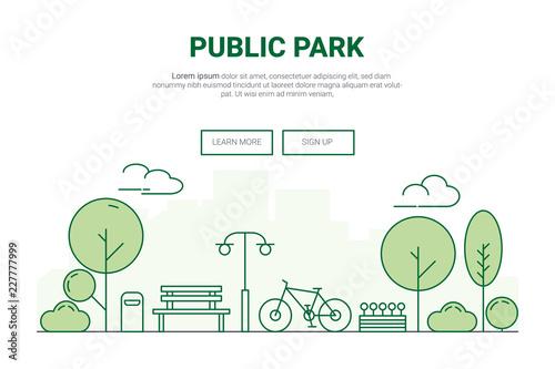 Fotografija  Landscape urban garden park concept