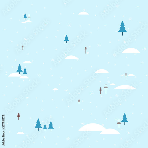 Fotobehang Lichtblauw Winter landscape. Snow and snowdrift. Background for Christmas greeting card