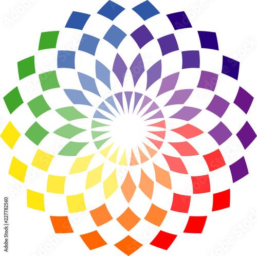 Fotografie, Obraz  Rosace multicolore
