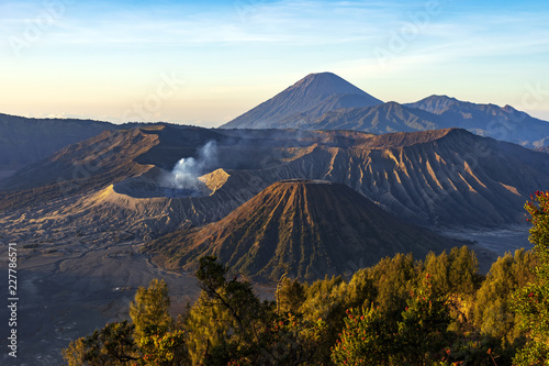 Foto op Plexiglas Indonesië Majestic view of mountains at Bromo Tengger Semeru National Park in the morning.It is located in East Java, Indonesia,to the east of Malang and to the southeast of Surabaya,the capital of East Java.